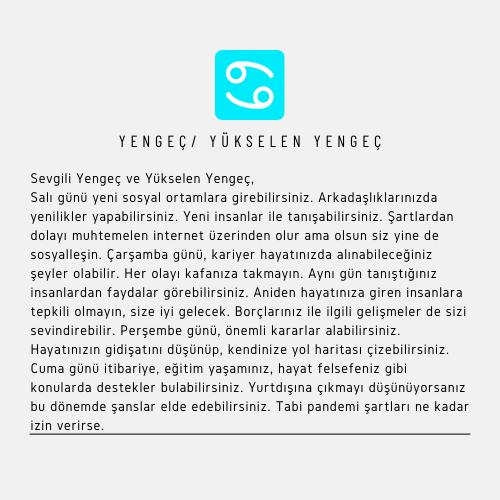 Yengeç Burcu Mayıs 2021
